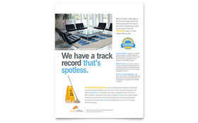 Janitorial & Office Cleaning Flyer - Word Template & Publisher Template