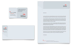 Corporate Business Business Card & Letterhead - Word & Publisher Template