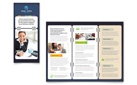 Secretarial Services Tri Fold Brochure - Microsoft Office Template