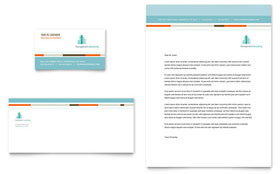 Management Consulting Letterhead - Word Template & Publisher Template