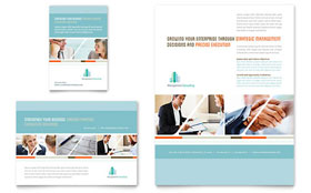 Management Consulting Flyer & Ad - Word Template & Publisher Template