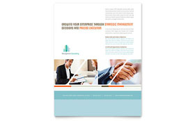 Management Consulting Flyer - Word Template & Publisher Template