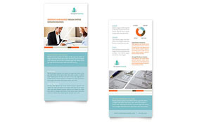 Management Consulting Rack Card - Word Template & Publisher Template