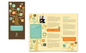 Business Services Tri Fold Brochure - Word & Publisher Template
