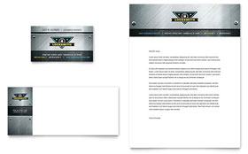 Locksmith Letterhead - Word Template & Publisher Template