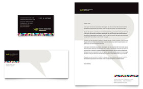Human Resource Management Letterhead - Word Template & Publisher Template