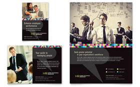Human Resource Management Flyer & Ad - Word Template & Publisher Template