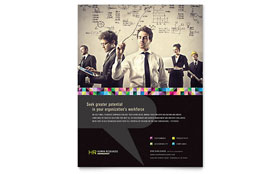 Human Resource Management Flyer - Word Template & Publisher Template