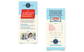 Laundry Services Rack Card - Word Template & Publisher Template