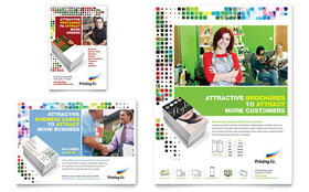Printing Company Flyer & Ad - Word Template & Publisher Template