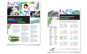 Printing Company Datasheet - Word Template & Publisher Template