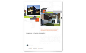Architectural Design Flyer - Word & Publisher Template