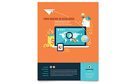 Advertising Company Flyer - Word Template & Publisher Template