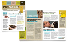 Animal Shelter & Pet Adoption Newsletter - Word Template & Publisher Template