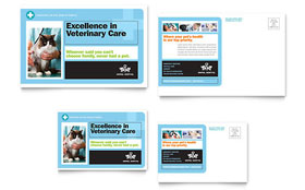 Animal Hospital - Postcard Template