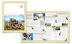 Nature & Wildlife Conservation Brochure - Word Template & Publisher Template