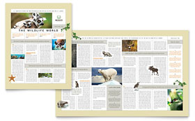 Nature & Wildlife Conservation Newsletter - Word Template & Publisher Template