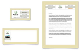 Nature & Wildlife Conservation Business Card & Letterhead - Word Template & Publisher Template