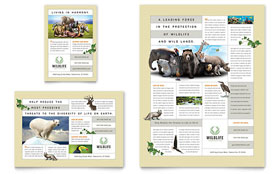 Nature & Wildlife Conservation Flyer & Ad - Word Template & Publisher Template