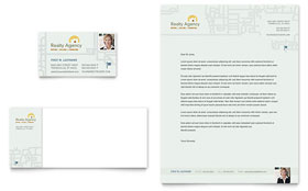 Real Estate Agent & Realtor Letterhead - Word Template & Publisher Template