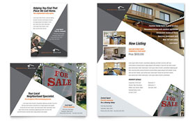 Contemporary & Modern Real Estate Flyer & Ad - Microsoft Office Template
