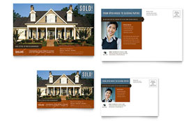 Real Estate Agent & Realtor Postcard - Microsoft Office Template
