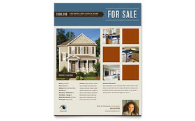 Real Estate Agent & Realtor Flyer - Word Template & Publisher Template