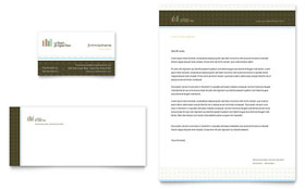 Urban Real Estate Business Card & Letterhead - Word & Publisher Template
