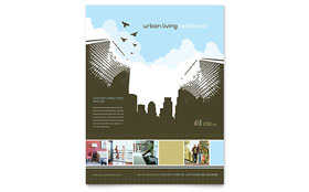Urban Real Estate Flyer - Word Template & Publisher Template
