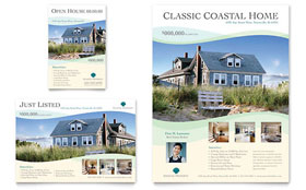 Coastal Real Estate Flyer & Ad - Microsoft Office Template