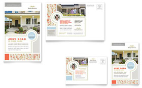 Real Estate Home for Sale Postcard - Microsoft Office Template