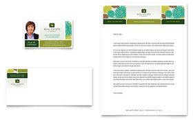 Real Estate Business Card & Letterhead - Word & Publisher Template