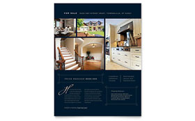 Luxury Home Real Estate Flyer - Word Template & Publisher Template