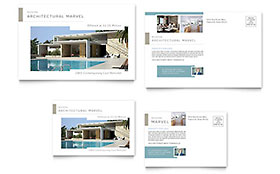 Modern Real Estate Postcard - Word Template & Publisher Template