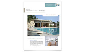 Modern Real Estate Flyer - Microsoft Office Template