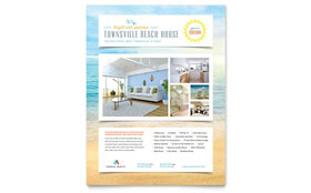 Beach House Flyer - Microsoft Office Template