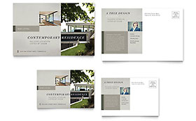 Contemporary Residence Postcard - Word Template & Publisher Template