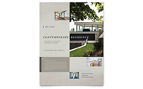 Contemporary Residence Flyer - Microsoft Office Template