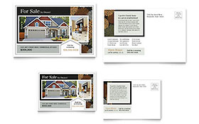 Suburban Real Estate Postcard - Word Template & Publisher Template