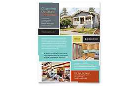 Craftsman Home Flyer - Microsoft Office Template