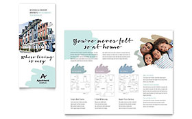 Apartment Brochure - Word & Publisher Template