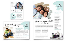 Apartment Flyer & Ad - Microsoft Office Template