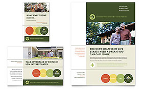 Mortgage Broker Flyer & Ad - Word Template & Publisher Template