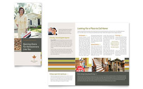 Free Sample Postcard Brochure - Word & Publisher Template