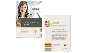 Free Sample Postcard Announcement - Word & Publisher Template