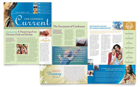Catholic Parish and School Newsletter - Word Template & Publisher Template