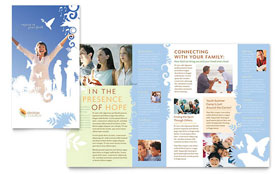 Christian Church Brochure - Word Template & Publisher Template
