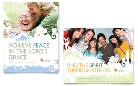 Christian Church Poster - Word Template & Publisher Template