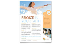 Christian Church Flyer - Word Template & Publisher Template