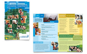 Community Church Brochure - Word Template & Publisher Template